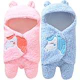 BRANDONN Newborn All Season Hooded Baby Blanket Cum Sleeping Bag Combo of 2