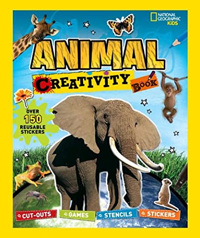 National Geographic Kids: Animal Creativity Book: Cut-outs, Games, Stencils, Stickers