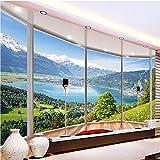 Yosot Benutzerdefinierte 3D Wandbild Tapete Modern Creative Balkon Französisch Fenster Natur Landschaft Foto Tapeten Wohnzimmer Schlafzimmer Home Decor-140cmx100cm
