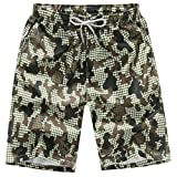 Brezeh Men Beach Shorts, Mens Quick Dry Boardshort Swim Trunks Beach Shorts Comfortable Casual Short Pants Surfing Running Swimming Watershort with Pockets (M, Camouflage)