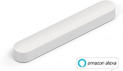 Sonos Beam Smart Soundbar (mit Amazon Alexa Sprachsteuerung, HDMI, WLAN, AirPlay) weiß