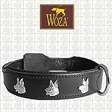 Woza Exclusive HUNDEHALSBAND 3,8/60CM SCHÄFERHUND Vollleder Rindleder Nappa Handmade Collar