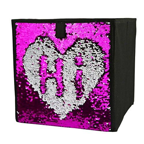 Zwei Ton Pailletten Lagerkästen Faltbare Cube Organizer Schublade, 12Stoff, X12