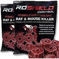 Roshield 600g Wax Block Bait for Rat & Mouse Killer Poison Control (300g x 2 Packs)