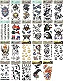 5 x Totenkopf Pirat Rad Anker Sensenmann Fire temporäre Tattoos Fancy Kleid Tattoo Halloween Body Art Make-up