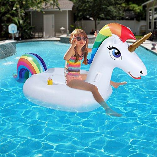 78115176cbae Piscina gonfiabile galleggiante - Unicorn Piscina galleggiante - Piscina  all'aperto Float Lounge Giocattolo Letto