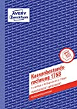AVERY Zweckform 1758 Kassenbestandsrechnung (A5, selbstdurchschreibend, 2x40 Blatt) weiß/gelb -