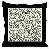 CafePress - 100 Dollar Bill Pattern - Throw Pillow