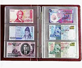 GOLD MINT Premier Large Currency Note Album with 15 Different Original Foreign Banknotes (GOLD MINT 81)