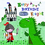 SAINT GEORGE & THE DRAGON BRAVE KNIGHT HAPPY BIRTHDAY GREETING CARD
