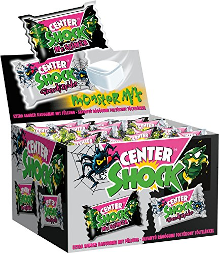 Center Shock Monster Mix | Box mit 100 Kaugummis | Extra-sauer | Cola- und ()