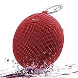 Bluetooth Lautsprecher Wasserdicht Bluetooth Speaker Wireless, iGOKU Bluetooth Box mit Mikrofon SD Wasserfest IPX5 Idealer mini Lausprecher drahtlos mit eingebautem Mikrofon und Micro SD Slot Freisprecheinrichtung leistungsstarker 5W Audio Treiber für Sport Dusche Strand und Haus (Rot)