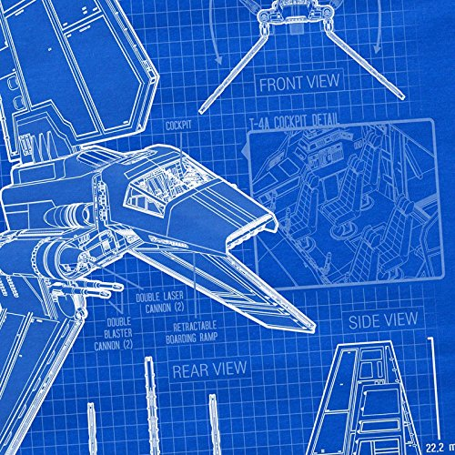 A.N.T. Navette Tydirium T-4A Lamba T-Shirt Femme bleu rebelles Bleu