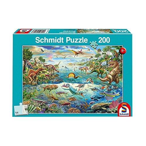 Schmidt Spiele Puzzle 56253 Entdecke die Dinosaurier, Kinderpuzzle, 200 Teile