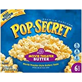 Microwave Popcorn, Movie Theater Butter, 3.5 oz Bags, 6 Bags/Box, Sold as 1 Box