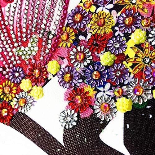 Haiyemao Leinwand Wandkunst Malerei DIY Diamant Strass Malerei Kits Leinwand Gemälde für Heimtextilien geeignet (Color : R8043 Girl)