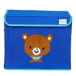 UberLyfe Kids Toy Storage Box - Blue Color - Brown Bear (KSB-001307)
