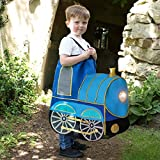 Los niños montan en tren traje de disfraces de un tamaño