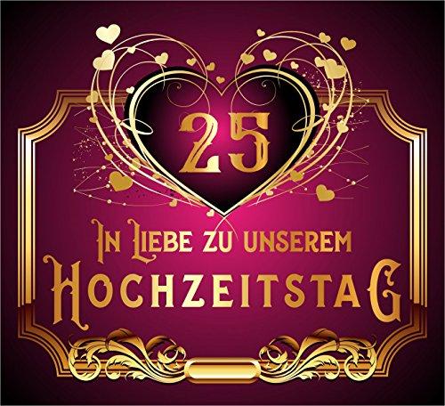 leber Original Design: Selbstklebendes Flaschen-Etikett zum 25.Hochzeitstag ()