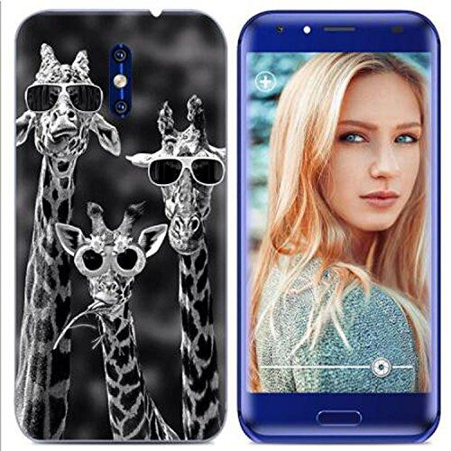 Yrlehoo Für Doogee BL5000, Premium Softe Silikon Schutzhülle für Doogee BL5000 Tasche Case Cover Hülle Etui Schutz Protect, Giraffe