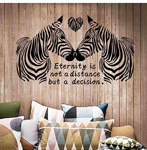 Beyond Wandsticker Zebra schwarz Wandtattoo Wandbilder Dekoration für Zimmer (Zebra-zimmer-dekorationen)