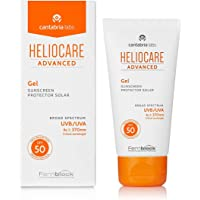 Heliocare Advanced Gel SPF 50 50ml / Lightweight Gel Sunscreen For Face / Daily UVA and UVB Anti-Ageing Sun Protection / Combination, Oily and Normal Skin Types / Matte Finish