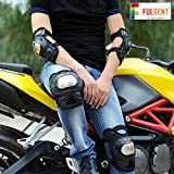 #8: FULGENT Pro Stainless Steel Knee Elbow Guards Sport Motorcycle Racing Riding Gear Set Of 4 Pcs .