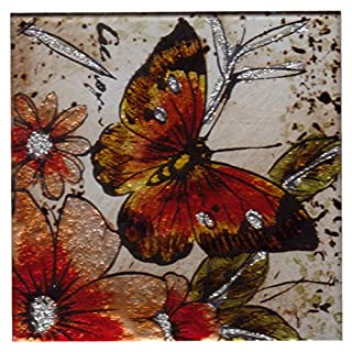 Admiral Butterfly Set of Four Glass Coasters