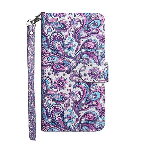 Für LG K8K102018Q6LG G7thinq Fall, babemall 3D Bling Malerei PU Leder Wallet Ständer Kreditkarte Halterung Flip Cover & Handschlaufe, for LG G7 / LG G7 ThinQ, Violett