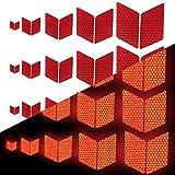 Tuqiang Tuqiang Diamant-Form Reflektierendes Klebeband Wasserdicht Selbstklebend Für Scooter Tractor Excavator Hohe Sichtbarkeit Band Sicherheit im Freien Reflektierend Aufkleber 25 Stück Rot