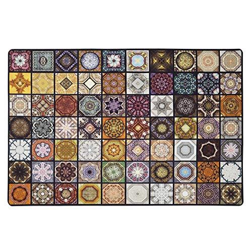 CAIJUN Läufer Teppiche Flur Entryway Teppich Retro Marokkanischer Stil rutschfest Verschleißfest Wohnzimmerteppich, Benutzerdefinierte Größe (Farbe : A, größe : 40x60cm) -