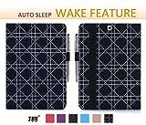 FYY Hülle für Samsung Galaxy Tab S2 9.7 - PU Leder Stand Folio Tasche mit Auto Schlaf/Wach Funktion Smart Cover-Schwarz