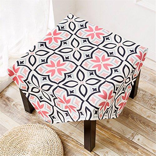 85* 85Beige Pink Floral geometrischem Azteken Esstisch Tuch Baumwolle Leinen Schreibtisch Garden rechteckig quadratisch non-ironing Umweltfreundlich Tischläufer Pink Floral Tischläufer