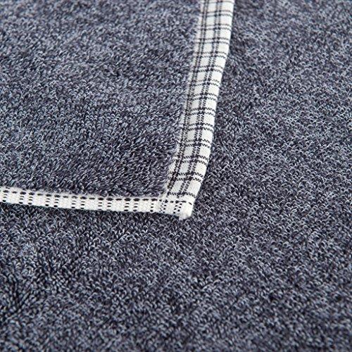 Asciugamani, cotone più spessa, grigio, marrone, 3 per pacchetto, asciugamani da bagno, pulizia sportiva ( Colore : Grigio ) Grigio