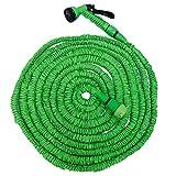 Eyepower Hochwertiger Gartenschlauch Flexibler Wasserschlauch Schlauch 7,5-22,5m inkl 7fach Multifunktions Sprühkopf Grün