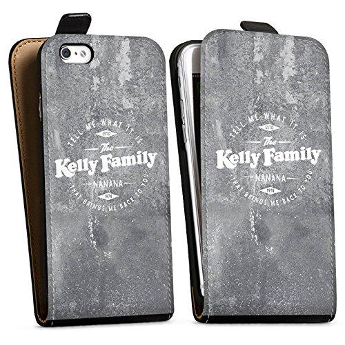 Apple iPhone 8 Hülle Premium Case Cover The Kelly Family Merchandise Nanana Downflip Tasche schwarz