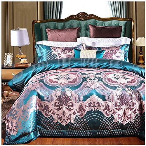 Tröster-Set Twin/Twin Size - 4-teiliges Bettset - Ultra Weiche Mikrofaser-Bettwäsche Für Schlafzimmer (Farbe : Green, größe : 2.0M Bed) -