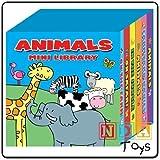 Animales Mini Biblioteca paquete de 6 Tabla Libros