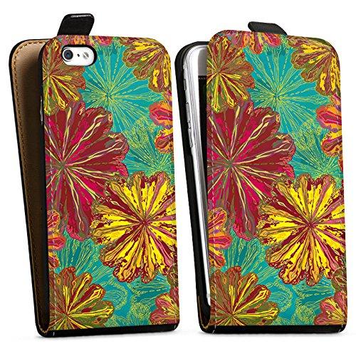 Apple iPhone X Silikon Hülle Case Schutzhülle Herbst Blumen Muster Downflip Tasche schwarz