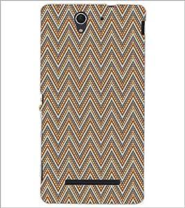 PRINTSWAG ZIG ZAG PATTERN Designer Back Cover Case for SONY XPERIA C3