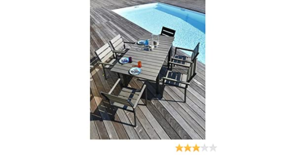 Ensemble table extensible de jardin 120 - 180 + 6