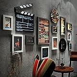 Home mall- Rétro industriel cadres photo mur   Cadres photo combinés muraux   pour le salon du couloir   Lot de 11 (Couleur : Color#2)