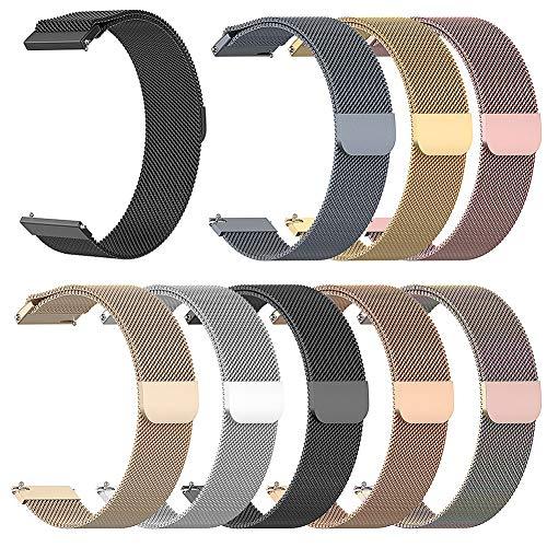 Preisvergleich Produktbild Duk3ichton Uhrenarmband 20mm / 22mm Smart Uhrenarmband Ersatz Für Samsung Galaxy Huawei Garmin Rose Golden 20mm