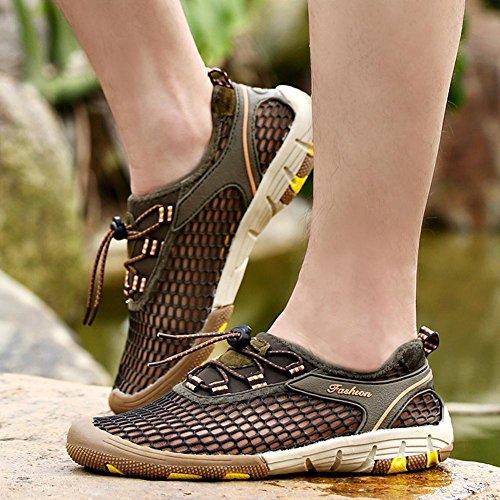 Sandali uomo a rete leggero traspirante comodo all'aperto casual scarpe da acqua per il campeggio l'arrampicata l'escursionismo Grey
