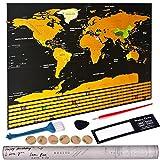 Naisidier kann die Karte des Mondo + Zubehörset (1 Pinsel, 1 Kamm und Vinci, 1 Roter Bleistift, 6 doppelseitige Klebebänder, 1 Vergrößerungsglas)