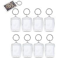 KINDPMA Portachiavi Portafoto 25 Pz Acrilico Portachiavi Plastica Trasparente Personalizzabili Rettangolo Vuoto Inserto…