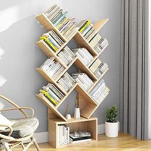 wishom Bibliothèque et étagères de Livres 14 étagères en