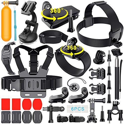 Erligpowht-36-en-1-accesorios-para-GoPro-hero-543321-SJCAM-SJ4000-SJ5000-SJ6000-LightdowXiaomi-YiWiMiUSDBPOWER-Camera-APEMANCamera-Campark