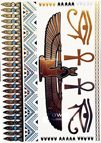 ღ Yh069 Flash-Tattoo temporärer Körper Aufkleber Decals Goldarmbänder Goldschmuck Metall-Blech-Metallic Tattoo (Flash-tattoo-maker)