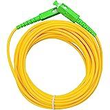 LAZY SPORTS Câble fibre optique SC/APC a SC/APC monomodo simplex 9/125, Operadores Movistar Jazztel Vodafone Orange Amena Mas
